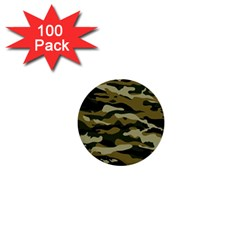 Military Vector Pattern Texture 1  Mini Buttons (100 Pack)