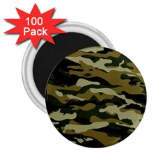 Military Vector Pattern Texture 2 25  Magnets (100 Pack)