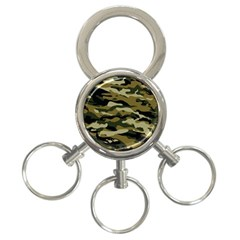 Military Vector Pattern Texture 3-Ring Key Chains