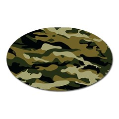 Military Vector Pattern Texture Oval Magnet