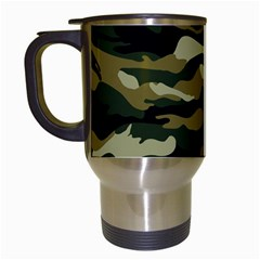 Military Vector Pattern Texture Travel Mugs (White)