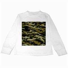 Military Vector Pattern Texture Kids Long Sleeve T-Shirts