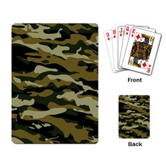 Military Vector Pattern Texture Playing Card
