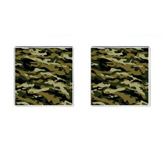 Military Vector Pattern Texture Cufflinks (Square)
