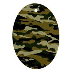 Military Vector Pattern Texture Oval Ornament (two Sides)