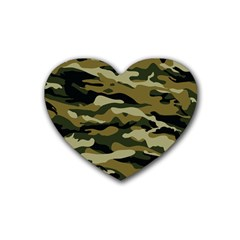 Military Vector Pattern Texture Heart Coaster (4 pack)