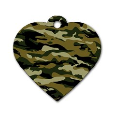 Military Vector Pattern Texture Dog Tag Heart (one Side)