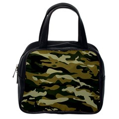 Military Vector Pattern Texture Classic Handbags (One Side)