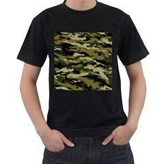 Military Vector Pattern Texture Men s T Shirt (black)