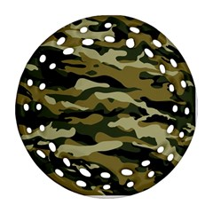 Military Vector Pattern Texture Round Filigree Ornament (two Sides)