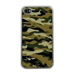Military Vector Pattern Texture Apple iPhone 4 Case (Clear)