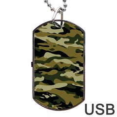 Military Vector Pattern Texture Dog Tag Usb Flash (one Side)
