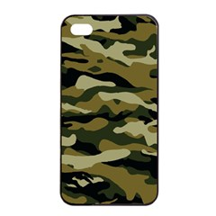 Military Vector Pattern Texture Apple iPhone 4/4s Seamless Case (Black)