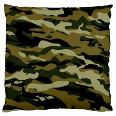 Military Vector Pattern Texture Large Cushion Case (two Sides)