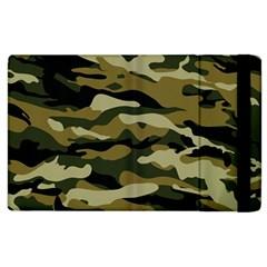 Military Vector Pattern Texture Apple Ipad 2 Flip Case