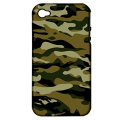 Military Vector Pattern Texture Apple Iphone 4/4s Hardshell Case (pc+silicone)