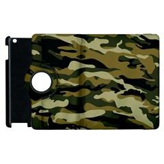 Military Vector Pattern Texture Apple Ipad 3/4 Flip 360 Case