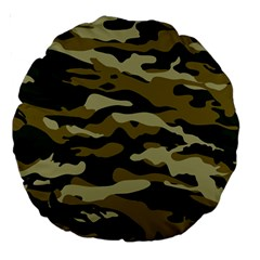 Military Vector Pattern Texture Large 18  Premium Round Cushions