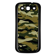 Military Vector Pattern Texture Samsung Galaxy S3 Back Case (black)