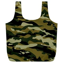Military Vector Pattern Texture Full Print Recycle Bags (L)