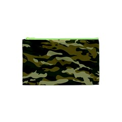 Military Vector Pattern Texture Cosmetic Bag (xs)
