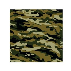 Military Vector Pattern Texture Small Satin Scarf (Square)