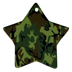 Military Camouflage Pattern Ornament (Star)