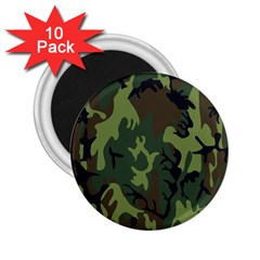 Military Camouflage Pattern 2 25  Magnets (10 Pack)