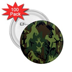 Military Camouflage Pattern 2 25  Buttons (100 Pack)