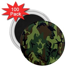 Military Camouflage Pattern 2 25  Magnets (100 Pack)