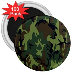 Military Camouflage Pattern 3  Magnets (100 pack)
