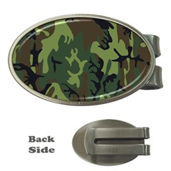 Military Camouflage Pattern Money Clips (Oval)