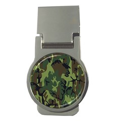 Military Camouflage Pattern Money Clips (round)