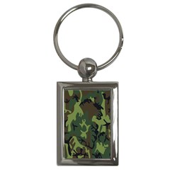 Military Camouflage Pattern Key Chains (rectangle)