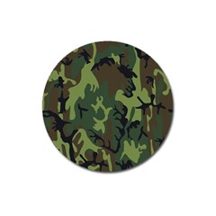 Military Camouflage Pattern Magnet 3  (round)