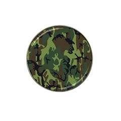 Military Camouflage Pattern Hat Clip Ball Marker (4 pack)