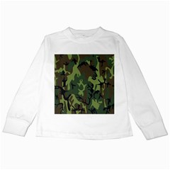 Military Camouflage Pattern Kids Long Sleeve T-Shirts