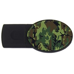 Military Camouflage Pattern Usb Flash Drive Oval (4 Gb)