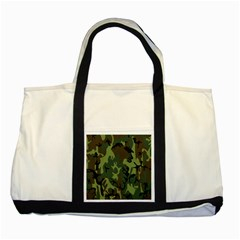Military Camouflage Pattern Two Tone Tote Bag