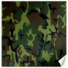 Military Camouflage Pattern Canvas 12  x 12