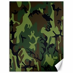 Military Camouflage Pattern Canvas 12  X 16