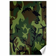 Military Camouflage Pattern Canvas 12  X 18