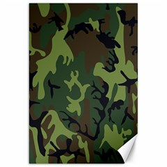 Military Camouflage Pattern Canvas 20  x 30