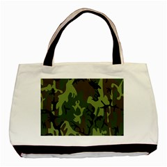 Military Camouflage Pattern Basic Tote Bag (Two Sides)