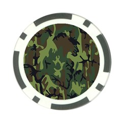 Military Camouflage Pattern Poker Chip Card Guard