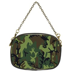 Military Camouflage Pattern Chain Purses (two Sides)