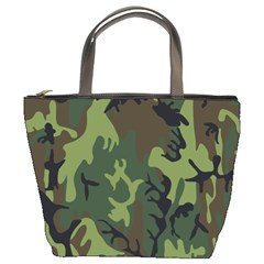 Military Camouflage Pattern Bucket Bags
