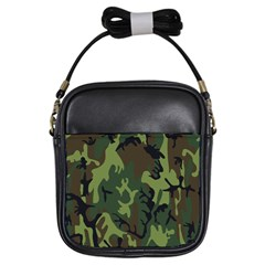Military Camouflage Pattern Girls Sling Bags