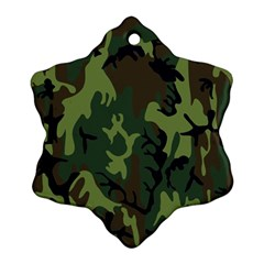 Military Camouflage Pattern Snowflake Ornament (two Sides)