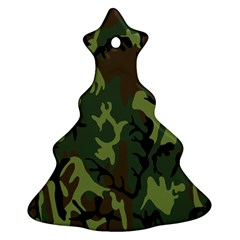 Military Camouflage Pattern Christmas Tree Ornament (two Sides)